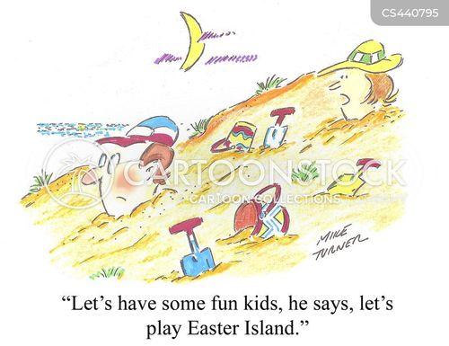 sea-side cartoon