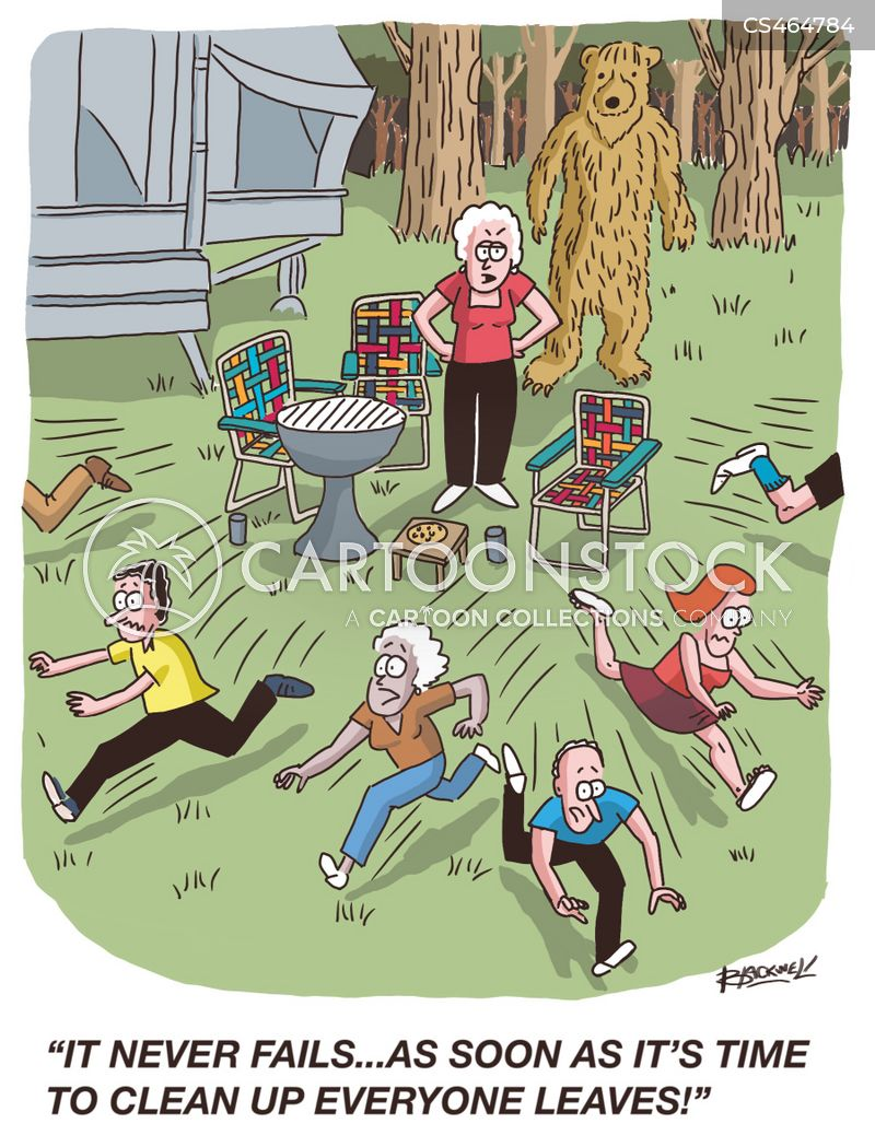 camping ground cartoon