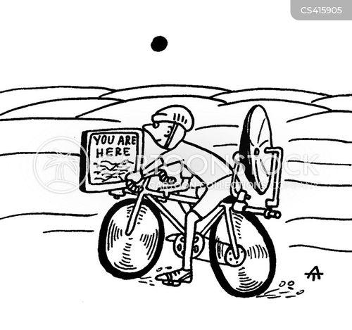 bicycling cartoon