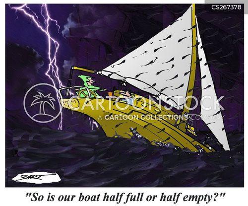 sinking boat cartoon