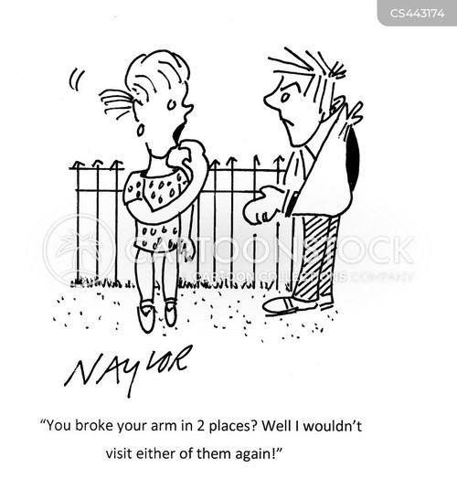 broken arms cartoon