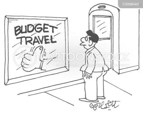 budget travel cartoon