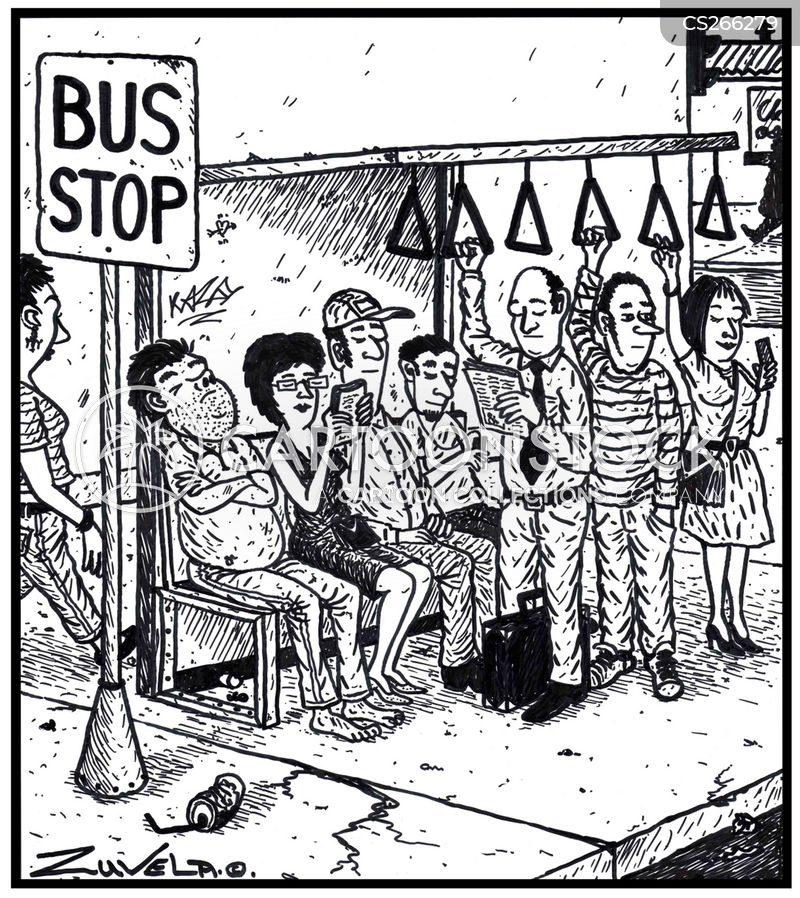 Bus Queue Cartoons And Comics Funny Pictures From Cartoonstock