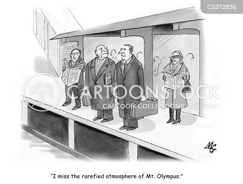 mount olympus cartoon