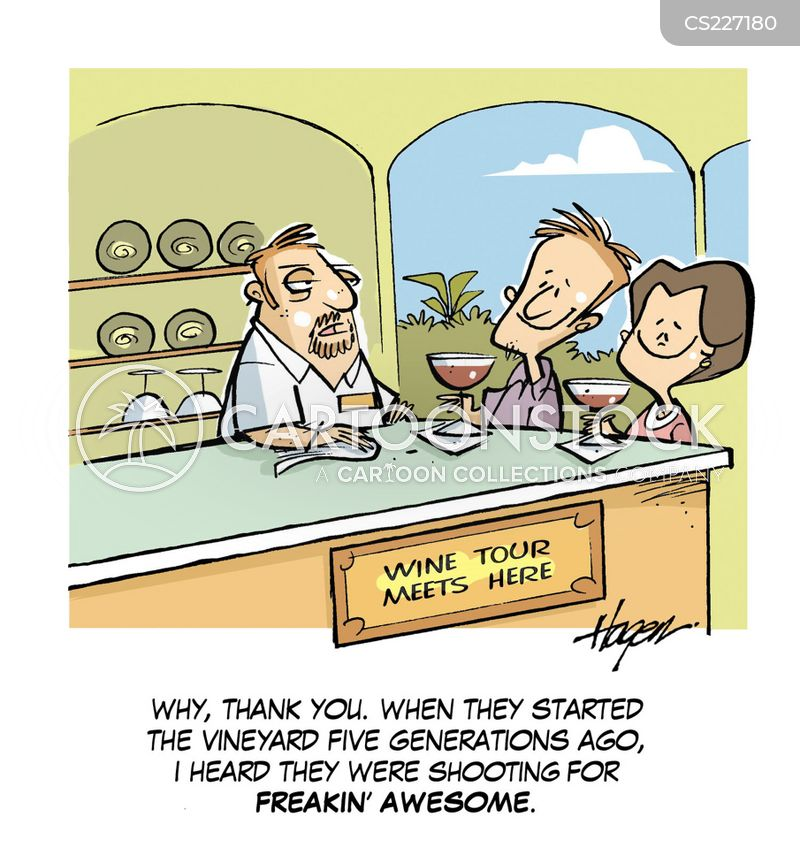 wine-makers cartoon