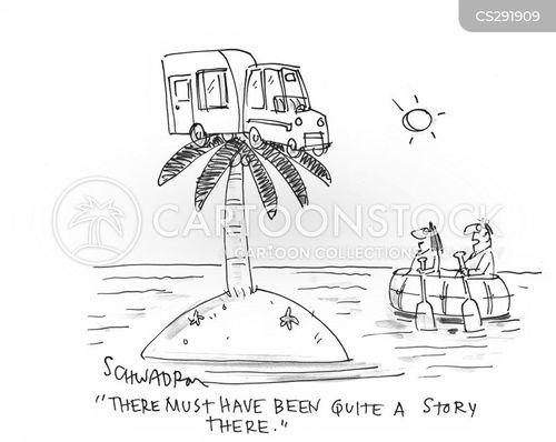 camper vans cartoon