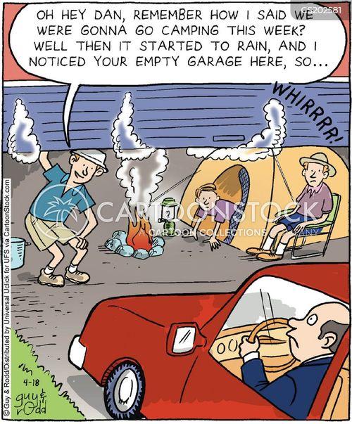 camping trips cartoon