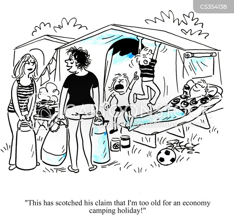 Economy Camping Holiday Cartoons Cartoon Funny Picture
