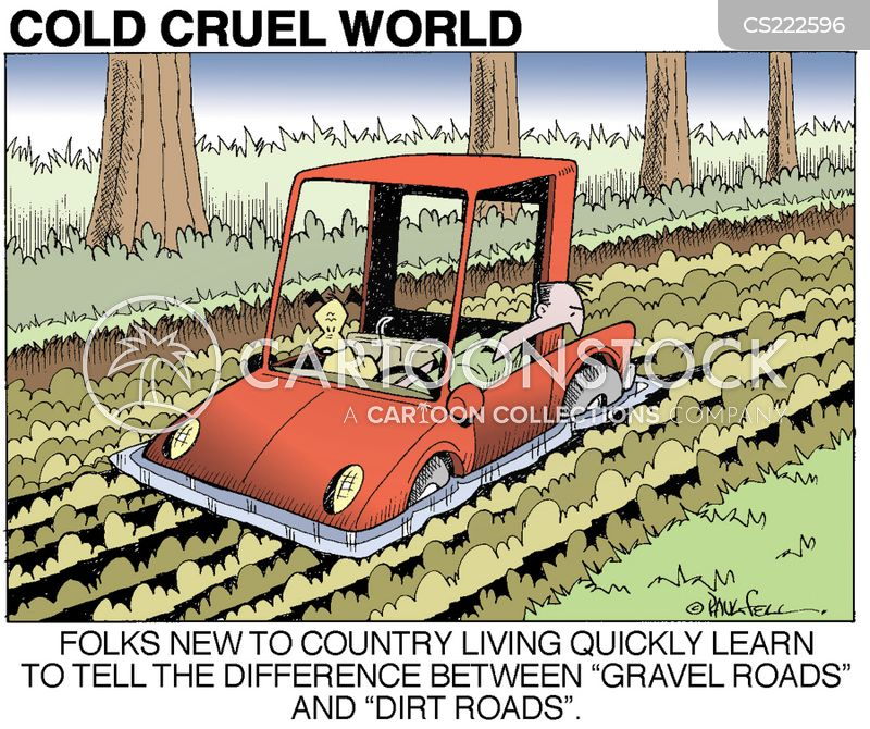 gravel road cartoon