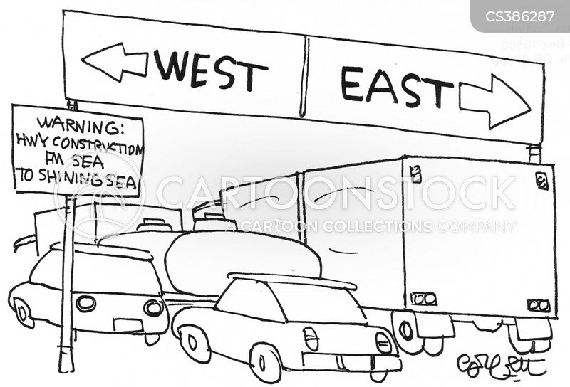heading east cartoon