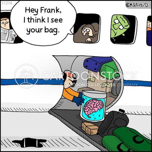 luggage holds cartoon