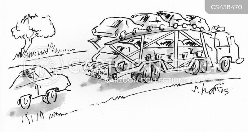 car transporter cartoon