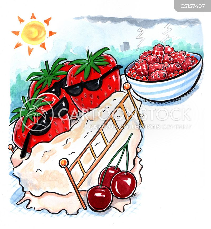 summer fruit cartoon