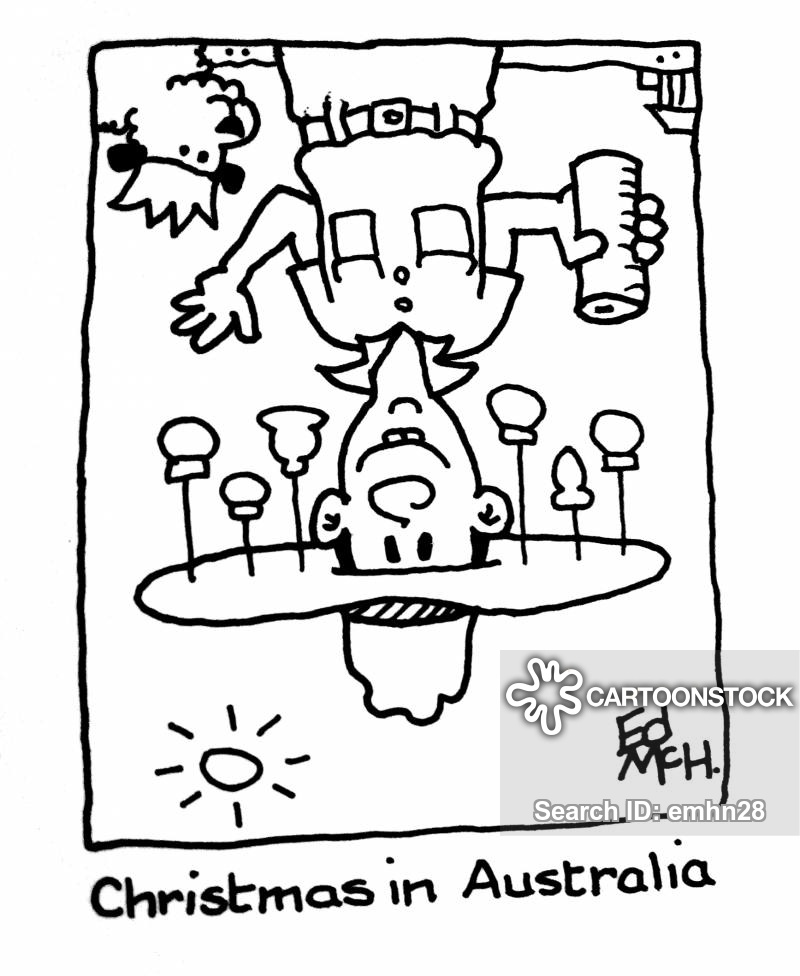 Christmas In Australia Cartoon.Otherside Of The World Cartoons And Comics Funny Pictures