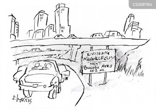urban areas cartoon
