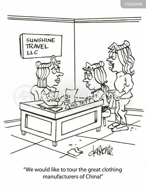 clothing manufacturers cartoon