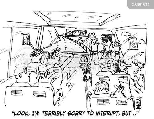 coach travel cartoon