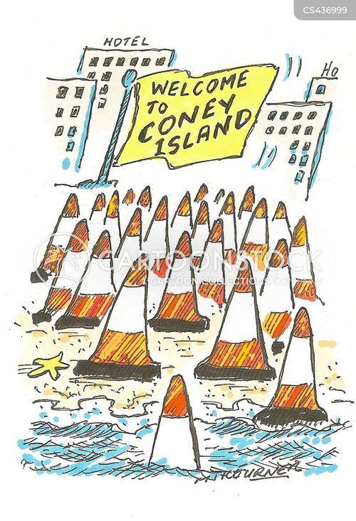 traffic cone cartoon