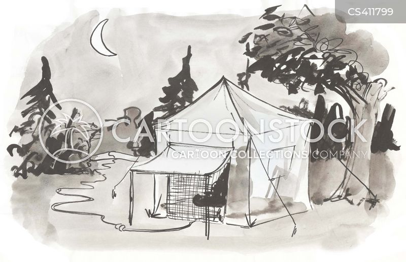 C&ing Tents cartoon 1 of 2  sc 1 st  CartoonStock & Camping Tents Cartoons and Comics - funny pictures from CartoonStock