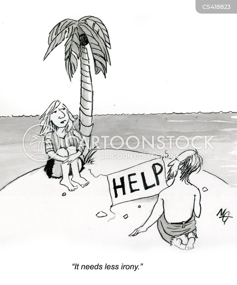 help signs cartoon
