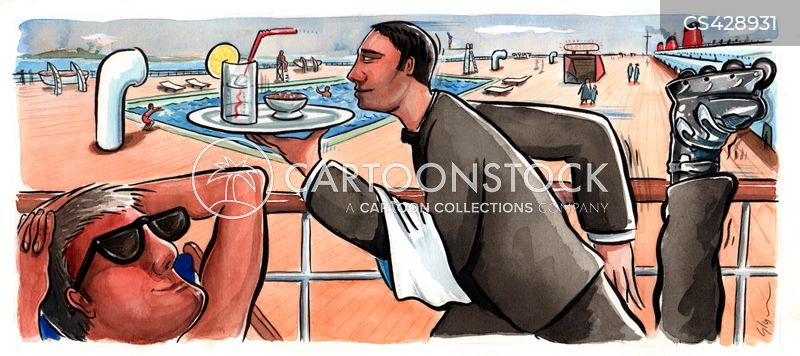 luxury cruise cartoon