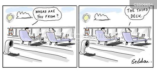 deck chairs cartoon