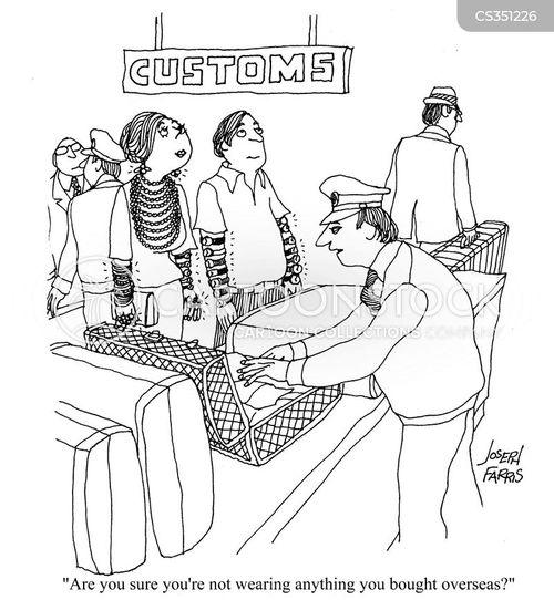 foreign goods cartoon