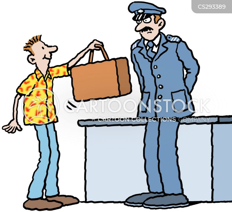 immigration officer cartoon