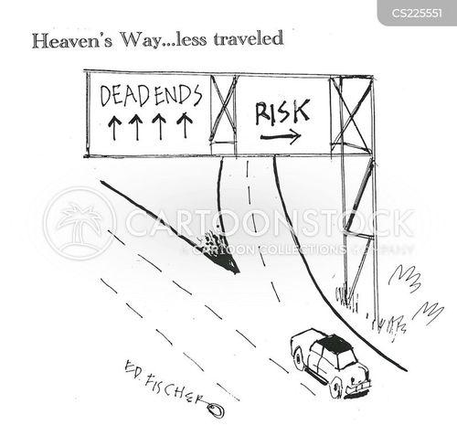 risky venture cartoon