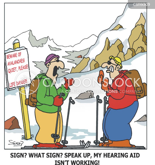 hearing aids cartoon