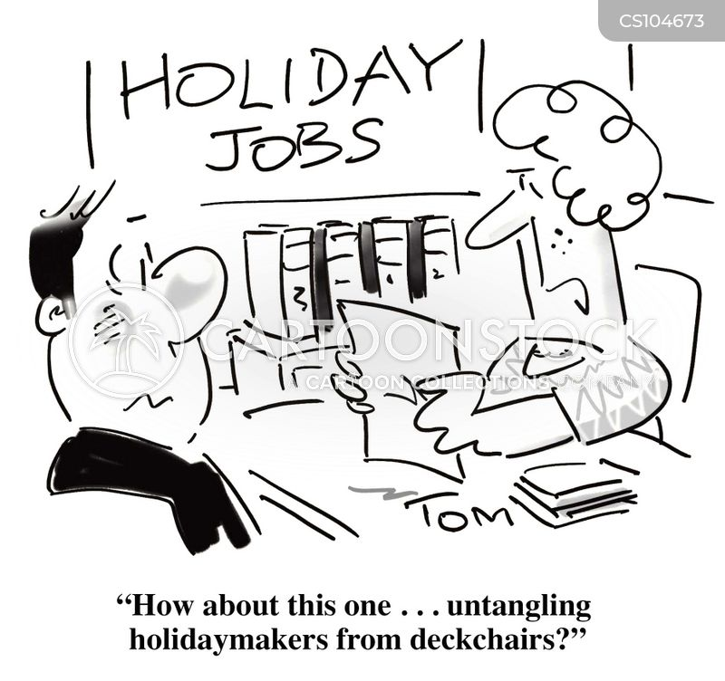 vacation jobs cartoon