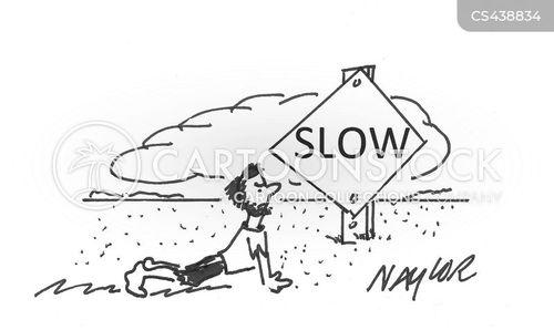 slow sign cartoon