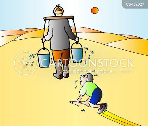 desert wells cartoon
