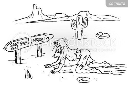 shoe sales cartoon