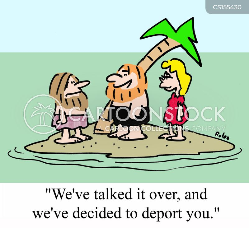 deport cartoon