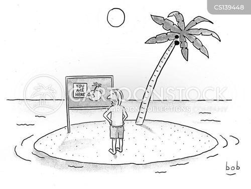 location sign cartoon