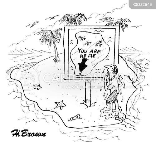 located cartoon