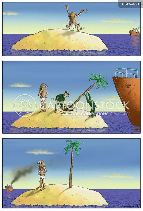 palms cartoon
