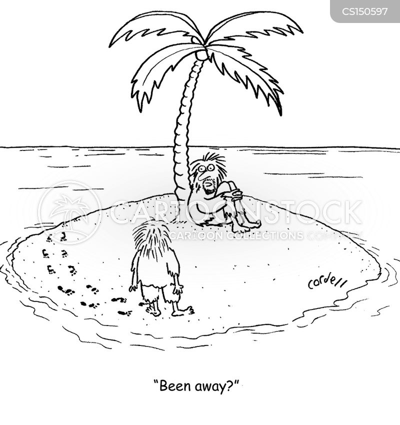 footprints in the sand cartoon