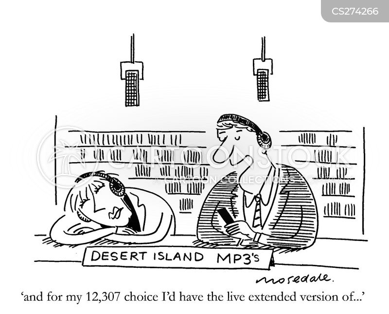 library of music cartoon