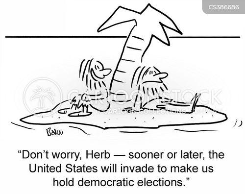 democratic elections cartoon