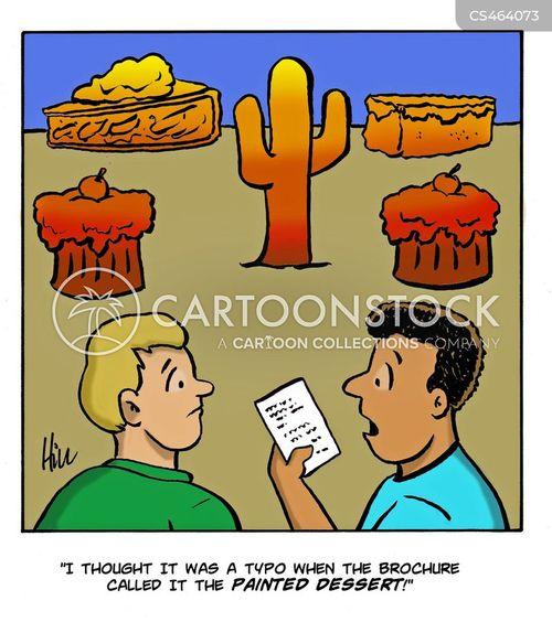 painted desert cartoon