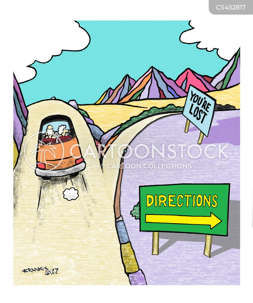 ask directions cartoon