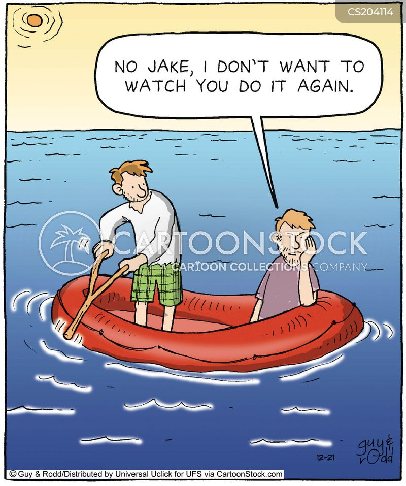 inflatable rafts cartoon