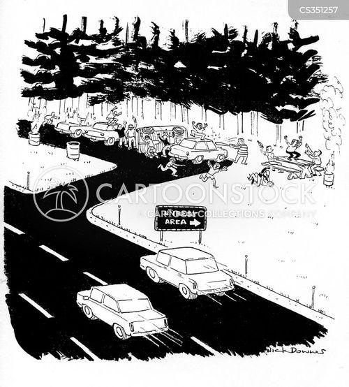rest area cartoon