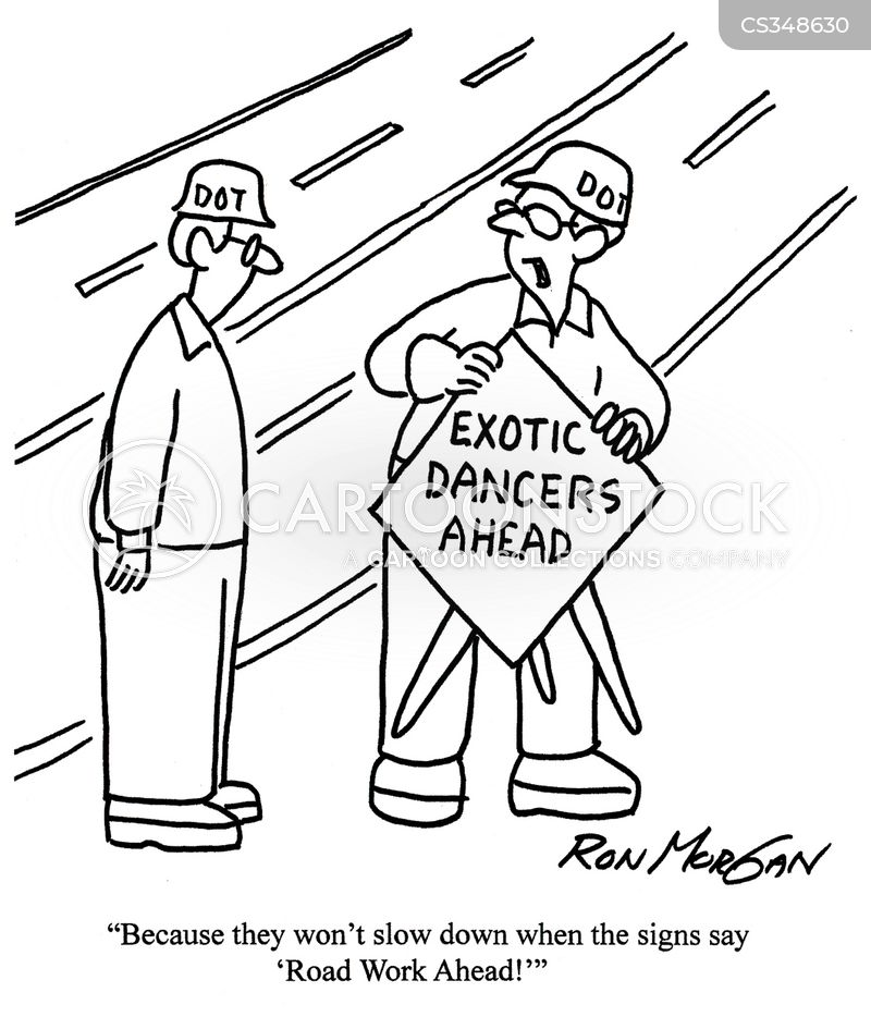 Road Worker Cartoons And Comics Funny Pictures From CartoonStock