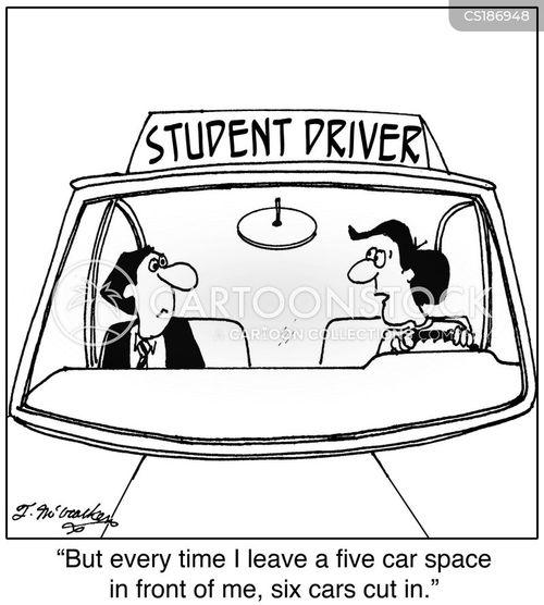driving instructors cartoon