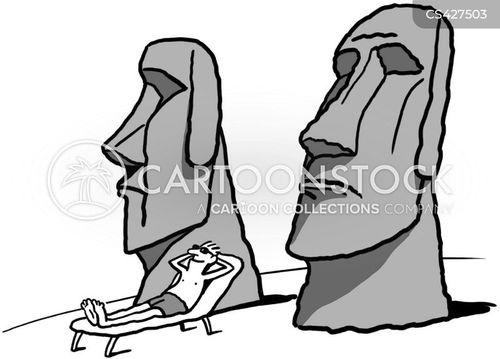 easter island head cartoon