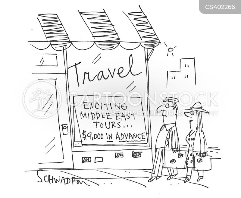 travel warning cartoon