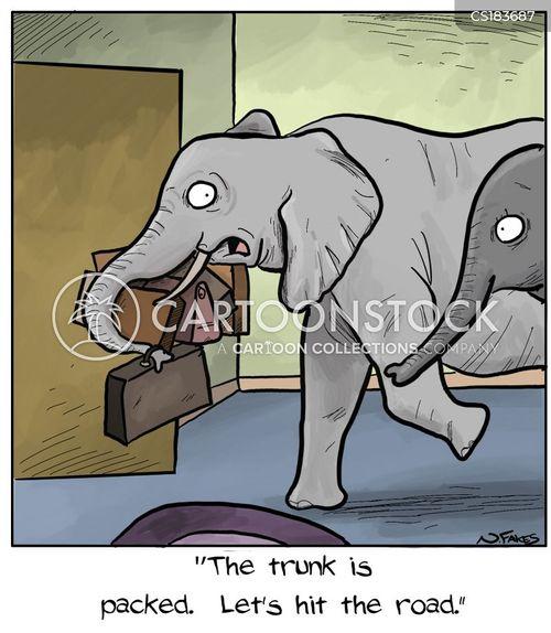 elephant herds cartoon